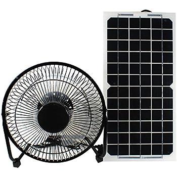 Gooddealever 10W 12V Solar Panel Powered Fan Ventilator for RV Trailer Chicken House Dog House Roof Vent Multi-functional Charger
