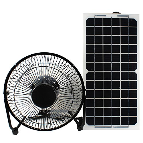 GOODSOZ 10W 12V Solar Panel Powered Fan Ventilator for RV Trailer Chicken House Dog House Roof Vent Multi-functional Charger by GOODSOZ