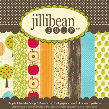 Jillibean Soup 125672 Apple Cheddar Soup Paper Pad 6 in. x 6 in. 24 Sheets-8 Designs-3 Each
