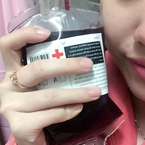 300ml PVC Material Reusable Blood Energy Drink Bag Halloween Pouch Props Vampire -Pier 27