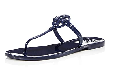 ea8ed75c2 Color  Tory Burch Women s Mini Miller Jelly Thong Sandals (Bright Indigo)  ...