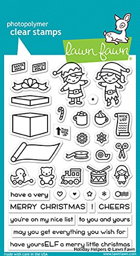 - Lawn Fawn Holiday Helpers Clear Stamp Set (LF1767)