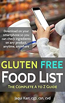GLUTEN FREE FOOD LIST Complete ebook product image