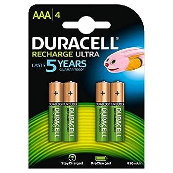 Duracell 0394203822 - Pilas recargables StayCharge AAA (pack de 4 pilas), 900mAh: Amazon.es: Electrónica