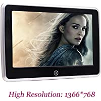 Universal 10.1 Tablet-Style Clip-On Car Backseat Headrest Monitor Android 6.0 Rear-Seat Entertainment System Screen with High Resolution 1366768 Suport USB/SD/HDMI Port and WiFi