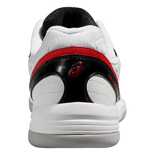 asics GEL-DEDICATE 3 INDOOR Tennisschuhe Herren, white/onyx/fiery red