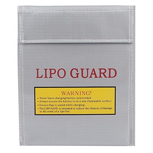 30cmx23cm RC LiPo protector de la seguridad de carga de batera bolsa Proteor gris plata