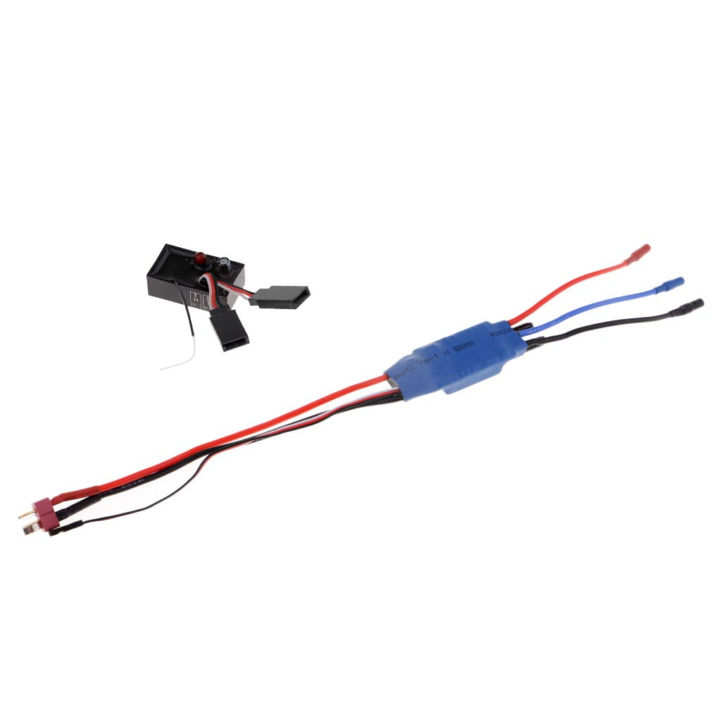 FLAMEER 2.4Ghz RC Racing Boat Vehicle Model Parts 35A Brushless ESC Speed Controller