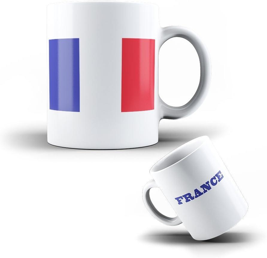 Taza Mug de ceramica Francia - Bandera Frances: Amazon.es: Hogar