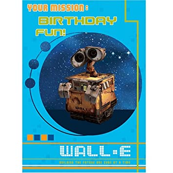 Disney Wall E Birthday Card With Hologram Picture Size 127 X 178mm Amazoncouk Toys Games
