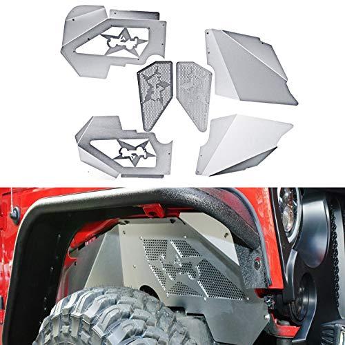 ALAVENTE Front Inner Fenders, Aluminum Front Inner Fenders Liners Kit for Jeep Wrangler JK & Unlimited 2007-2018 4WD/2WD