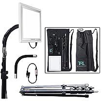 The Makeup Light Key Light Starter Kit, Nickel / White with Adjustable Gooseneck, Stand, and Shoulder Bag