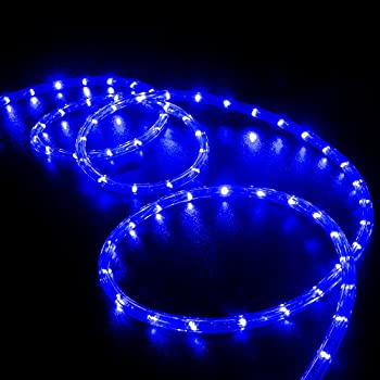 Amazon izzy creation 18ft blue led flexible rope lights kit wyzworks 100 feet blue led rope lights flexible 2 wire accent holiday christmas party decoration lighting ul csa certified aloadofball Images