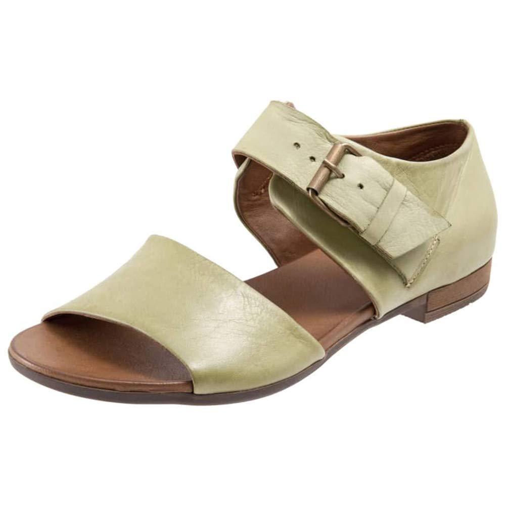 DecoStain Women's Summer Classic Plus Size Comfortable Flat Sandals Open Toe Buclke Casual Sandals