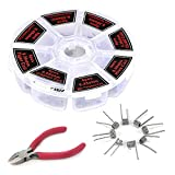 Prebuilt Kanthal Resistance Wire Coils Set, STARVAST 8 in 1 Pre-Built Coils Clapton Kit with 48 Pcs, 8 Different Style Heating Wires Come with Wire Cutter (0.36ohm, 0.45 ohm, 0.5 ohm, 0.85ohm)