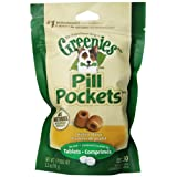 Greenies 6-Pack Dog Treat with Pill Pocket for Tablet, 3.2-Ounce, Chicken