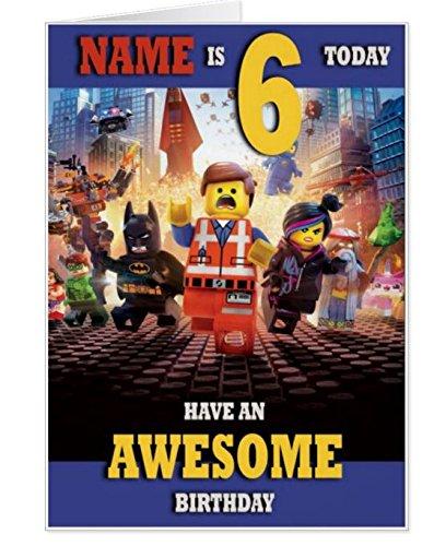 Personalizado la película de Lego tarjeta de cumpleaños ...