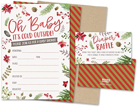 amazon com koko paper co baby it s cold outside winter baby shower