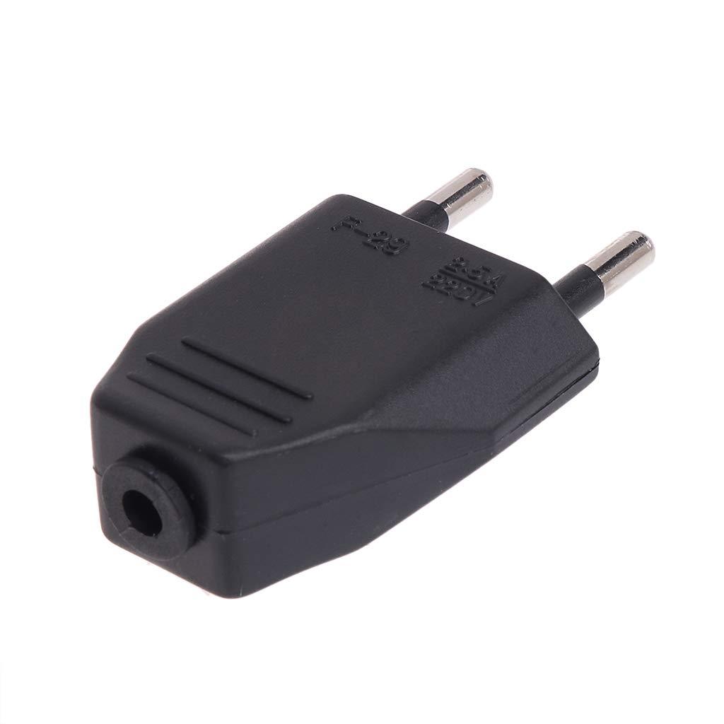 2 Piezas Cableado de iluminaci/ón de Cable de Red VDE de Dos Hilos para Cable de alimentaci/ón el/éctrica - Blanco YoungerY