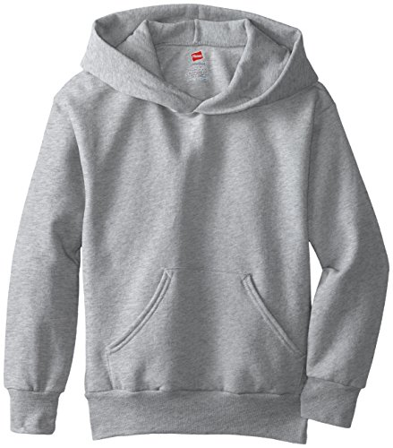 Hanes Big Boys' Eco Smart Fleece Pullover Hood, Light Steel, Large