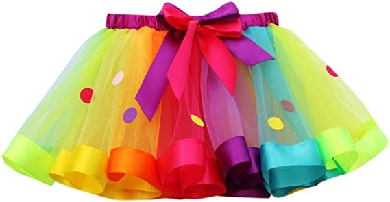 QinMM Niñas Tutu Glitter Danza Ballet Faldas de tutú Tul: Amazon ...