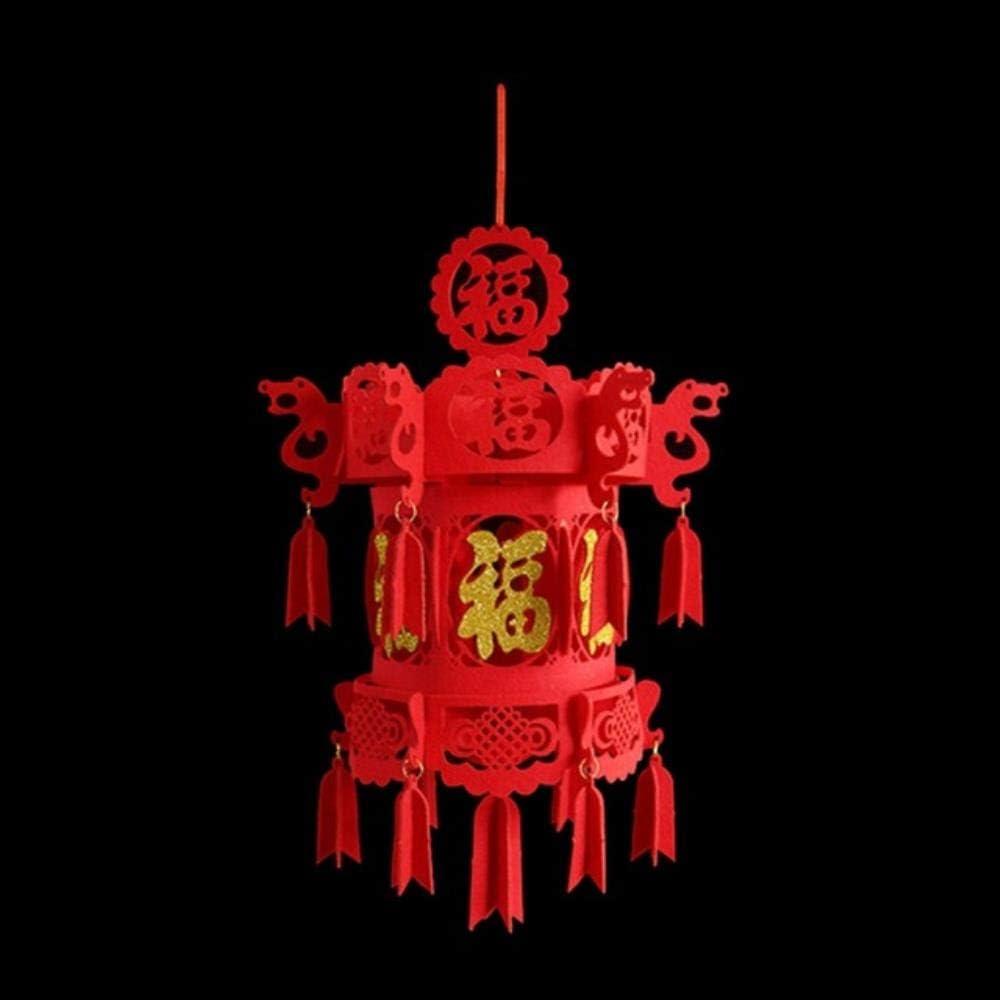 ABOOFAN 2 lanterne rosse per Capodanno cinese decorazione per la festa della primavera
