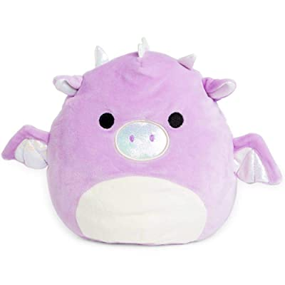 Squishmallow Kellytoy 8 Inch Purple Dragon: Toys & Games