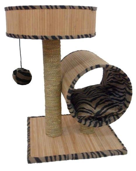 Kaxima Árbol para Gatos Alfombras de Gato Gato árbol Muebles bambú Madera Productos 40 * 45