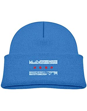 Funny Chicago-Flag Printed Infant Baby Winter Hat Beanie