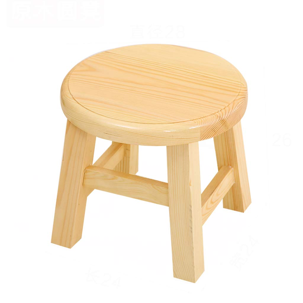 Stool-table, home solid wood tea table, modern minimalist dining table and chair combination/living room mini square table (Color : B, Size : 282826cm)