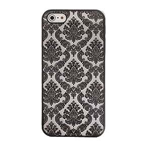 iPhone 5S Caso 5, Susenstore® Moda alheña caso de la cubierta floral blanco de la flor de plástico para el iPhone 5 de 5S