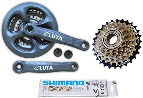 6 x 3 18 velocidad bicicleta de piezas de juego de cadena para ...