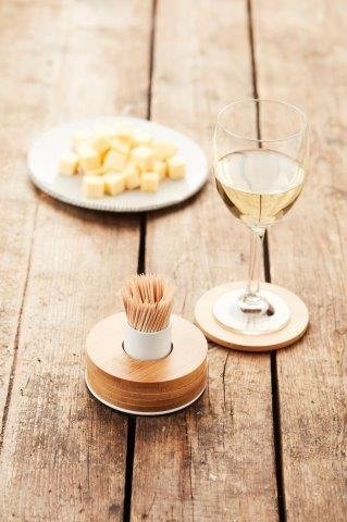 Adomo PV-BAM-0906 Toothpick Holder, Bamboo, Brown ()