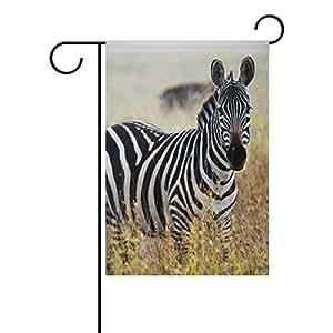 bennigiry African Savanna Zebra jardín bandera 12x 18inch poliéster casa bandera de Jardín bienvenida Decor, Multicolor, 28x40(in)