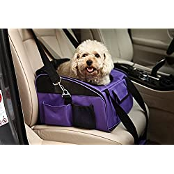 Meiying Pet Car Seat Carrier for Dog Cat ,Puppy Small Pets Travel Cage Lookout Booster Seat