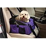 WOpet® Pet Car Seat Carrier Airline Approved For Dog Cat Puppy Small Pets Travel Cage L Size Weight up to 15lbs (Purple)