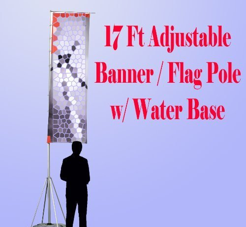 dsm-brand-17-ft-giant-telescopic-adjustable-flag-banner-pole-stand-with-water-bag-filled-base-alumin