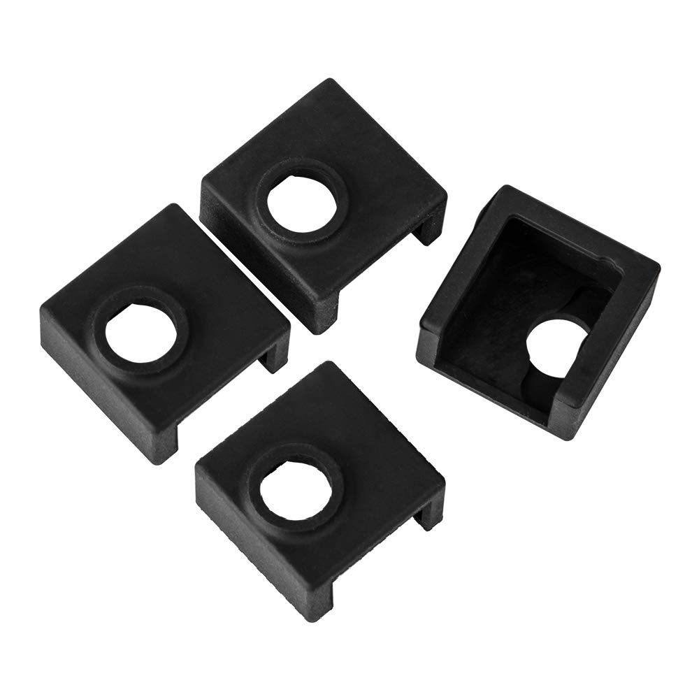 4PCS Comgrow Printer Hotend Silicone Sock Heater Block Silicone Cover for Comgrow Ender 3 Ender 3 Pro Ender 5 CR-10 10S S4 S5