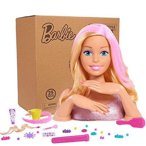 Barbie Deluxe Styling Head(Blonde)- Brown Mailer (Best Hairstyles For Small Heads)