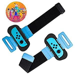 Just Dance 2019, for Joy Con Nintendos Switch Controller Wristband - Adjustable Elastic Strap with Space for Joy-Cons Left or Right