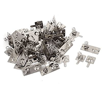 AA Battery Connecting Spring Lamination Plates Silver Tone 22 Pcs