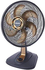 Ventilador de Mesa, TS40+, Preto/Dourado, 110v, Mallory