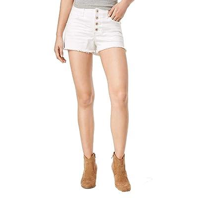 American Rag Juniors' Ripped Raw-Edged White Wash Denim Shorts (White, 15) at Women's Clothing store