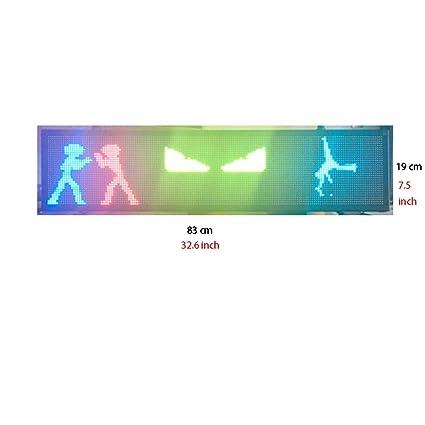 MAQLKC Cartel LED programable WiFi, Pantalla de Coche LED P5 ...