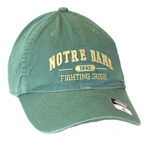 (NCAA Officially Licensed Notre Dame Womens 1842 Green Slouch Fit Hat Cap Lid)