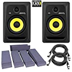 KRK RP6G3-NA Rokit 6 Generation 3 Powered Studio Monitor + Free Talent Insolation PAD and PSC XLR Cables from KRK