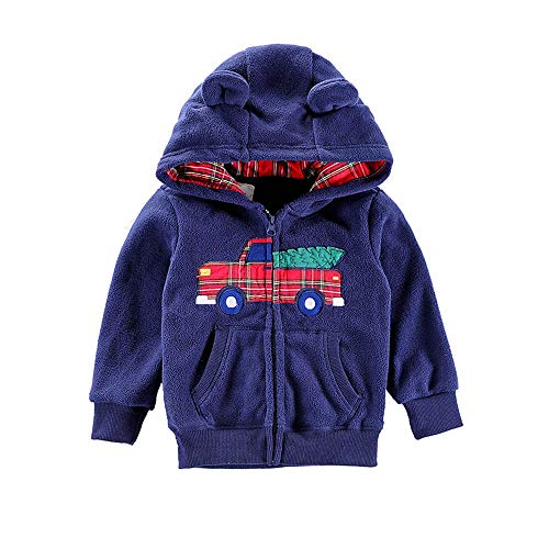 Kids Boys Girls Full-zips Hooded Jacket Lightweight Fleece Hoodie for Boys Girls and Toddlers Winter Warm Jacket