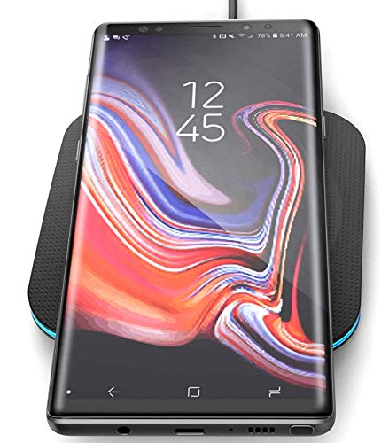 Encased 10W Wireless Charger for Samsung Galaxy Note 9 - QuickCharge 3.0 Enabled - Non Slip Qi Pad - Supports QC3.0 Fast Charging (Wall Adapter Sold Separately) (Samsung Galaxy Note 3 Wireless Charging Pad)