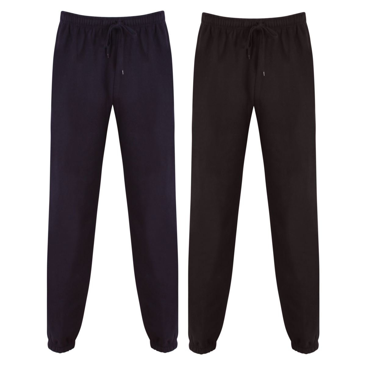 Gazelle Sports Mens Fleece Jog Pants Jogging Bottoms Trousers Joggers Cuffed Hem Zip Pockets