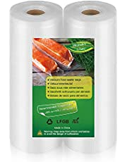 BoxLegend Vakuum tätningspåsar vakuum matförseglare rullar, 2 rullar 28 x 600 cm förvaringspåsar, tung kommersiell anpassad storlek matväskor för matförvaring, Sous Vide matlagning, BPA-fri